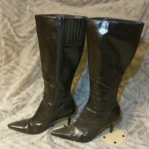 Mid Calf Brown Boots